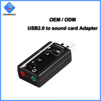 Factory Wholesale 7.1 channel External Audio Voice Stereo usb sound card