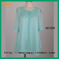 2013 New fashion cutting blouse for ladies women