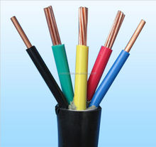cambodia electric wire and cable 100%cooper flame resistance PVC insulation