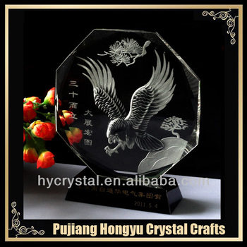 hot sale round glass award