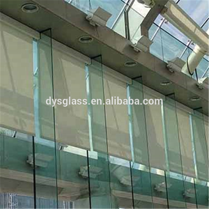 12mm 16mm 19mm thickness low iron clear bathroom tempered architectural art glass door sheet