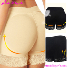 Cheap Beige Lace High Waist Women Butt Lifter With Padded Slimming Shaper Panty