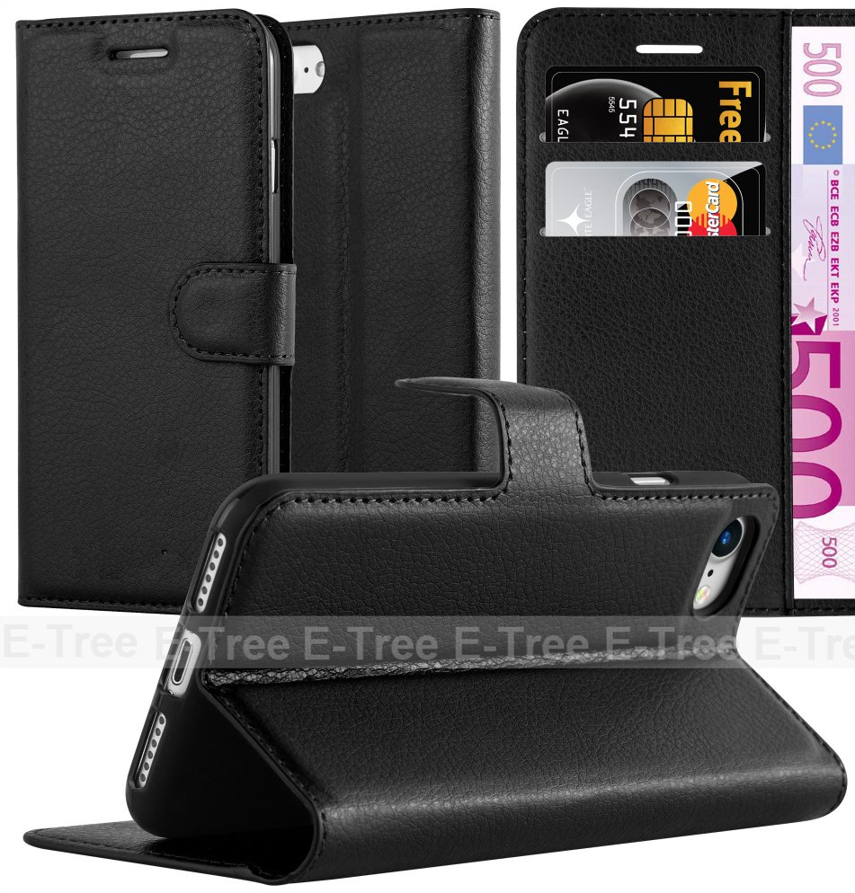 New Arrival Lichee Leather Wallet Mobile Phone Case With Card Slots For iPhone 7, For iphone 7 Flip back cover