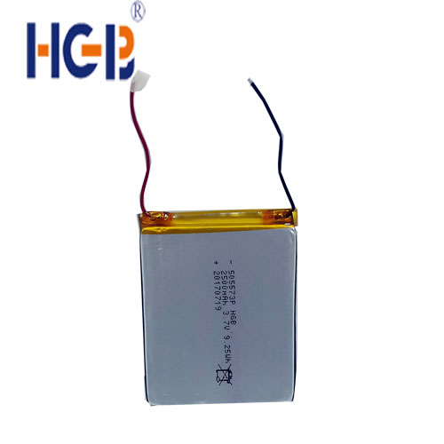 HGB 505573 high capacity 2500mAh 3.7V rechargeable lithium ion polymer battery for power bank