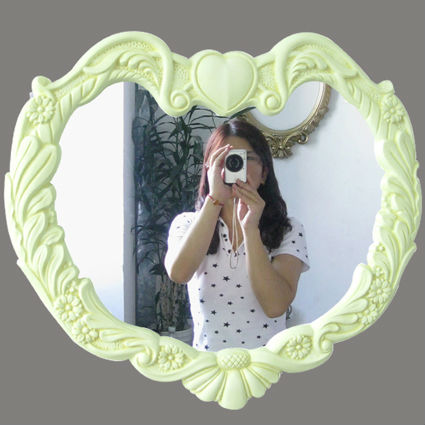 Heart shaped large mirror