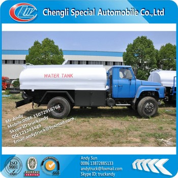 Dongfeng 4x4 water transportation truck,4x4 water transport tanker truck