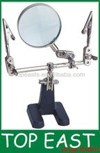 2XHelping hand magnifier Stand with clip Assist the DIY helping hand magnifier