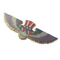 Custom metal enamel grateful dead wings lapel pin badge