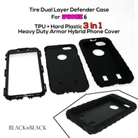 Tire Dual Layer Defender Case For iphone 6 TPU + Hard Plastic 3 in 1 Heavy Duty Armor Hybrid Mobile Phone Cover