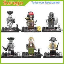 2017 New Plastic Pirates of the Caribbean 5 Mini Action Figure Building Blocks Set Educational Toys for Kids Chenghai Toys