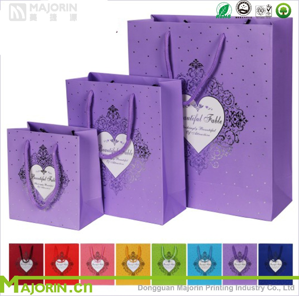 Optional Colour Gift Packaging Paper Bag