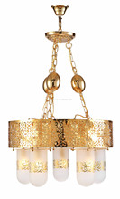 Arabic gold chandelier mosque hanging lamps from ZhongShan factory