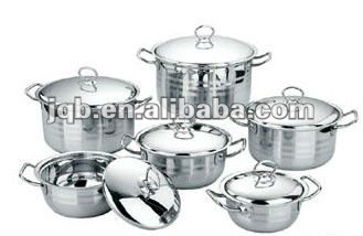2013new arriving 12PCS Stainless Steel Cookware Set with thin handle and competitive price