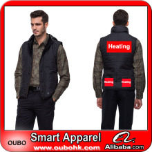 Custom high quality fashion winter men vest with battery heating system high-tech electric heating clothing warm OUBOHK