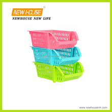 Colorful and Folding Plastic Storage Baskets for Daily Use