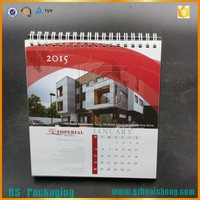 Offset printing New design spiral binding custom table calendar wholesale