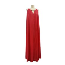 Casual Wearing Superior Fabric Red Dyed Prom Dress