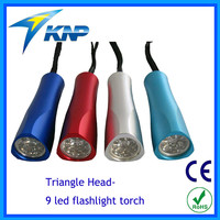Triangle Colorful 9LED Flashlight Torch
