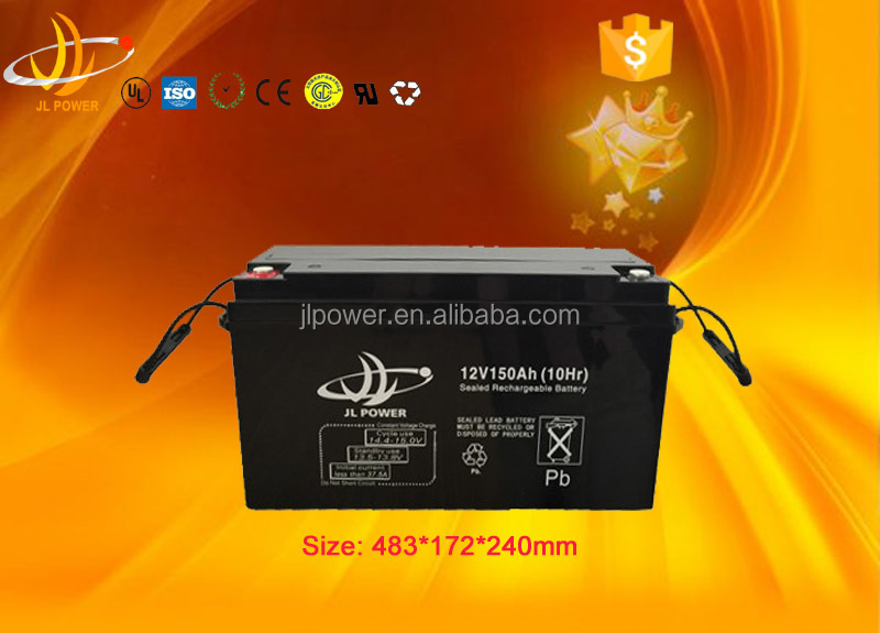 Factory produce 12v 150ah battery ups agm battery for Telecom system/solar &wind storage system/UPS