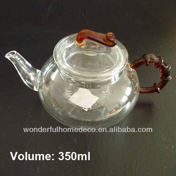 350ml Taiwan Heat Resistant Small Glass Teapot