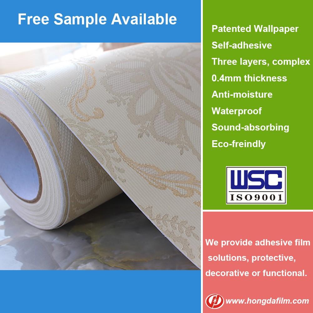 Wholesale self adhesive wallpaper bathroom vinyl wallpaper for Self adhesive bathroom wallpaper