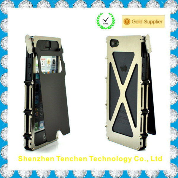 alibaba express Transformer Stainless Steel case for Iphone 5S