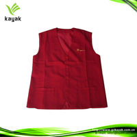 restaurant unisex uniform vest