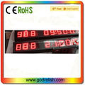 DDD HH:MM: SS red color 9 digital led countdown and countup timer