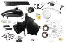 New 80cc 2 Stroke Cycle Bike Bicycle Motorized Engine Kit BLACK Motor Chrome Muffler,stroke engines for sale
