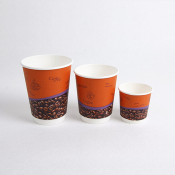 16OZ Disposable Double Wall Printed Coffee Paper Cups Custom Printed Paper Cups