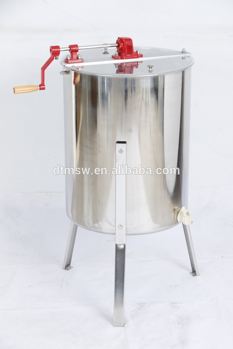 Best sale 4 frame stainless steel manual honey extractor with wooden beehive frame