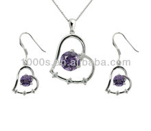 Newest fashion Crystal sets jewelry(necklace/ earrings)