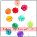 Rainbow Hanging paper honeycomb garland wedding party decorations
