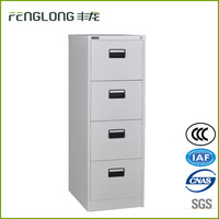Hot-sell wholesale office furniture plastic handle design metal vertical 4 drawer storage hang file cabinet