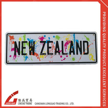 funny aluminum motorcycle New zealand license plate