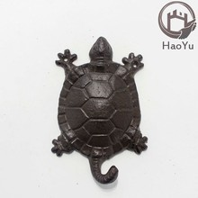 cast iron tortoise shaped animal hook for home decor