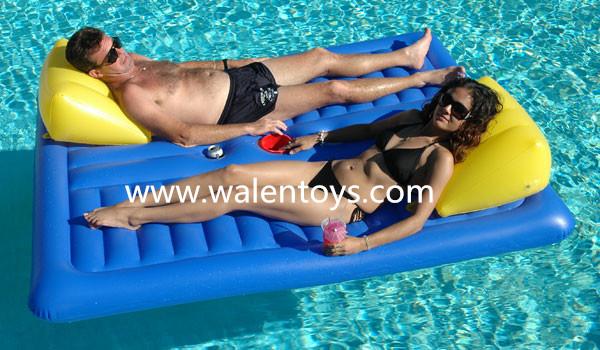 Hot Sale Led Inside Lights Inflatable Beach Mattress Pvc