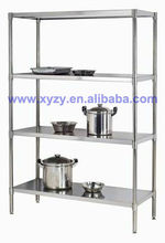 stainless solid shelf for food service