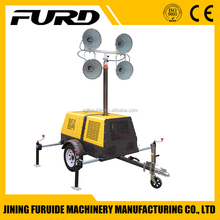 FZMT-1000B factory supply 4x400w Mobile construction Trailer Light Tower