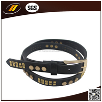 The Belt Pyramid Studded Leather Belt