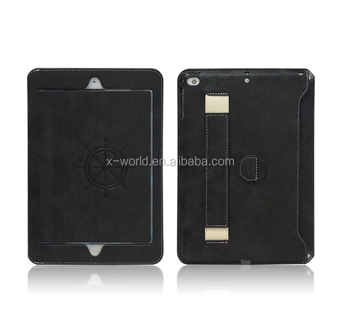 Leather Super Slim Smart Cover Case for iPad Air 2,Full Protect with Hand Strap and Stand