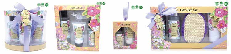 Bath Gift Set With Lavender Perfume and Anti-Aging