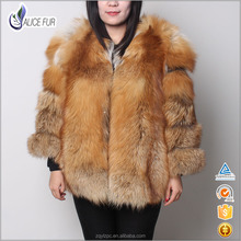 Top Quality Hot Sale Women Fox Fur Coat / Red Fox Fur Jackets With Factory Price