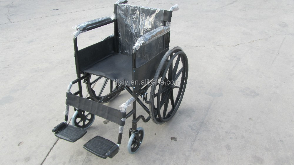 Spraying steel manual soft seat of the wheelchair 809