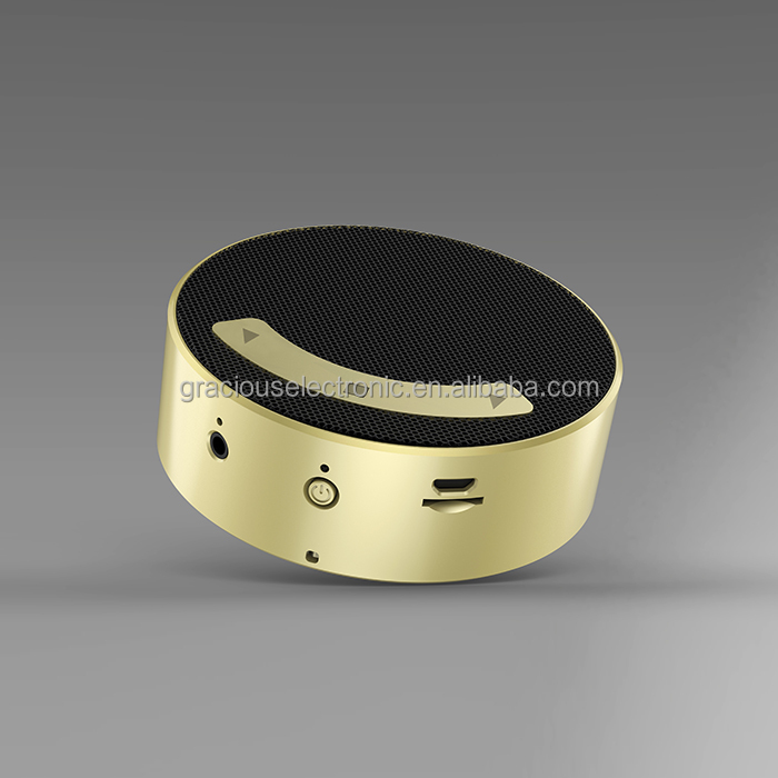 Nice promotion item Gold bluetooth speaker wireless