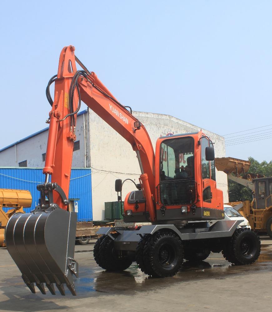 Types Of Excavators : Excellent performance small wheel type excavator ys