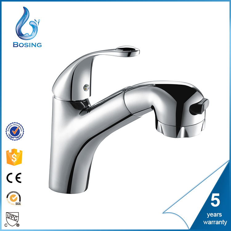 SPECIAL DISCOUNT BATHROOM MIDDLE SIZE PULL OUT UPC FAUCET FOR BASIN, HOT AND COLD WATER MIXER TAP IN LARGE STOCK