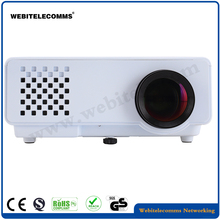 White color LCD Mini High Definition Full LED HD Home Projector Support 1080P