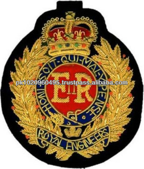 Royal Engineers Embroidered Badge, UK, Canada, Australia