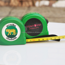 promotional green stainless steel digital metallic engine working tape measure